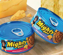 Purina Mighty Dog with cheese launch concepts